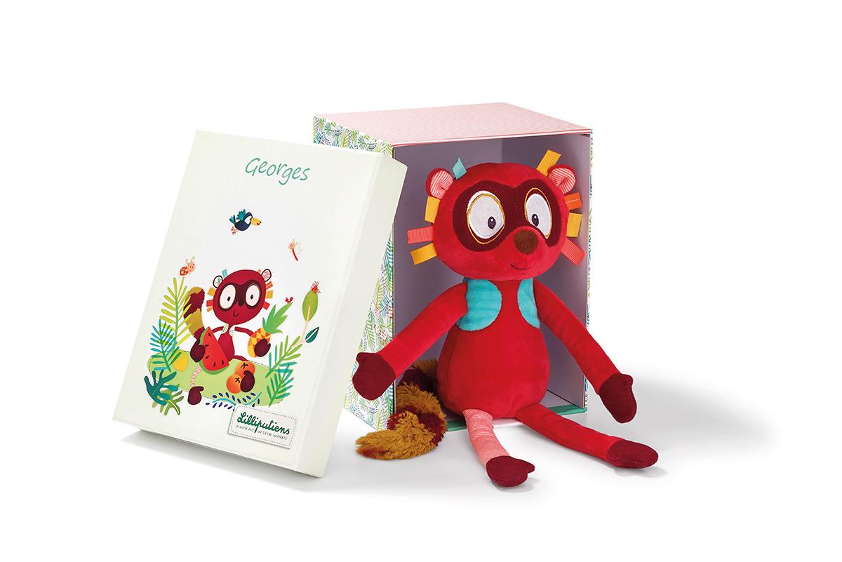 Plüschtier mit Geschenkbox Lemur Georges