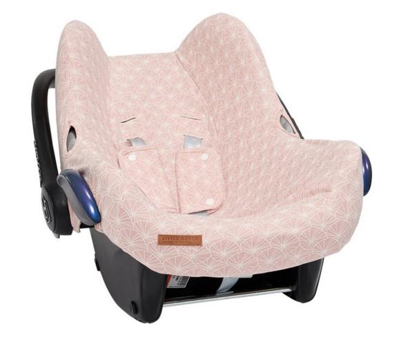 Bezug für Babyschale Lily Leaves rosa