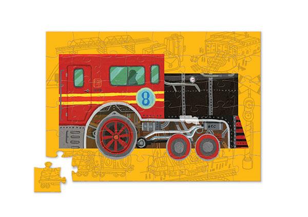 Puzzle auf Rädern Lokomotive 48 Teile
