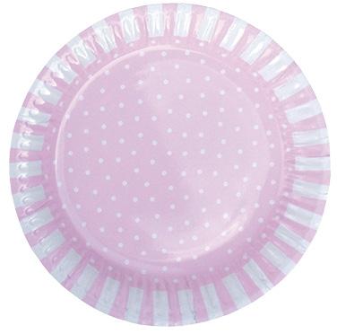 Pappteller rosa 8er Set
