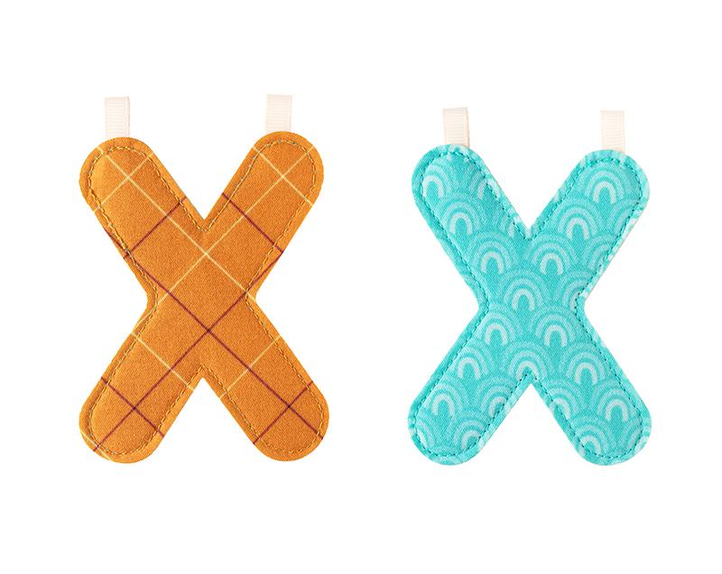 """Stoffbuchstabe """"X"""""""
