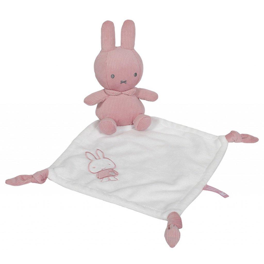 Schmusetuch Kuscheltuch Miffy Hase Cord rosa weiß