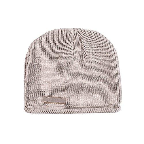 Strick Mütze graubraun