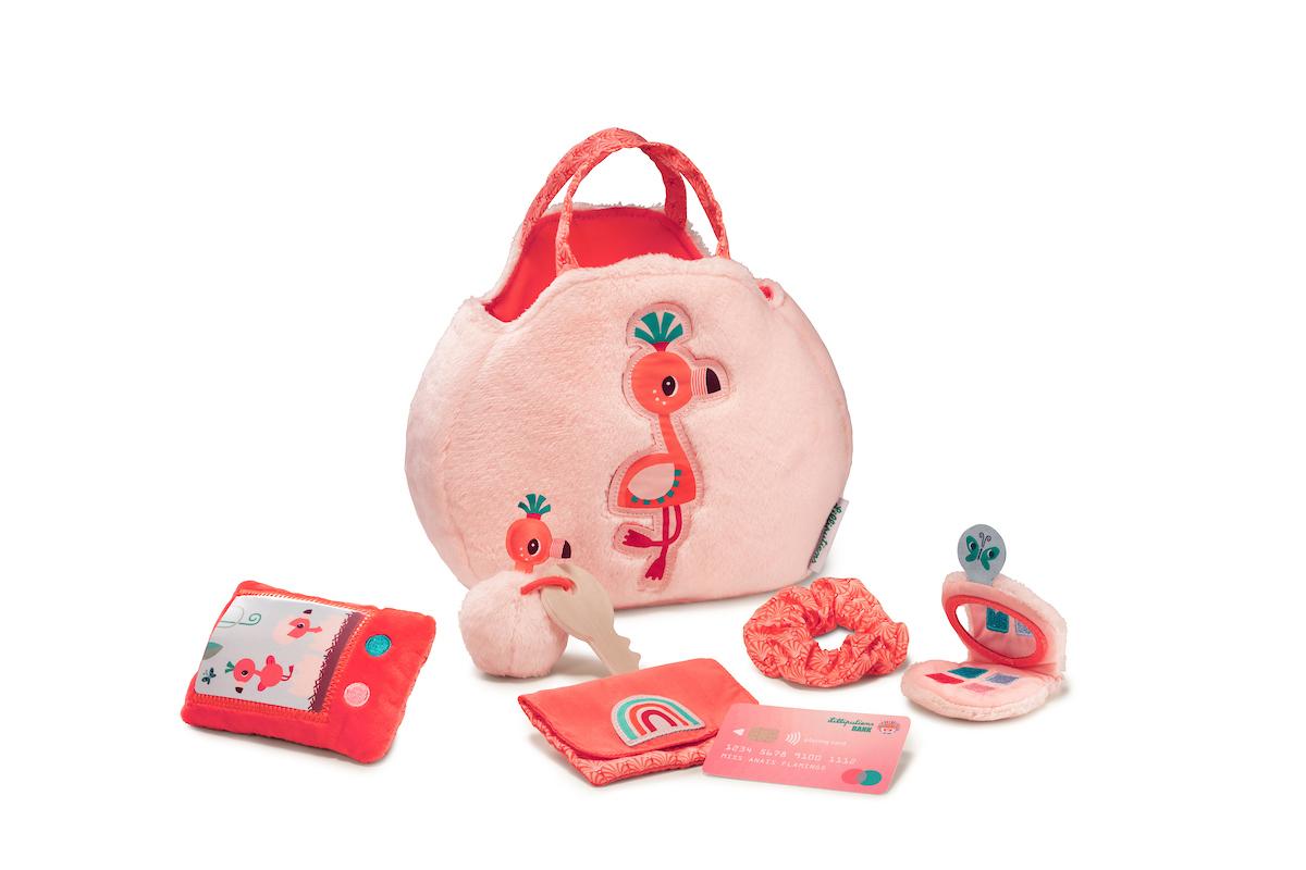 Handtasche mit viel Zubehör Flamingo Anais