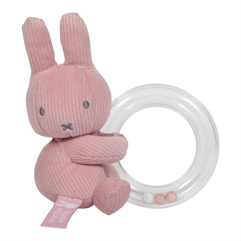 Ringrassel Miffy Hase Cord rosa