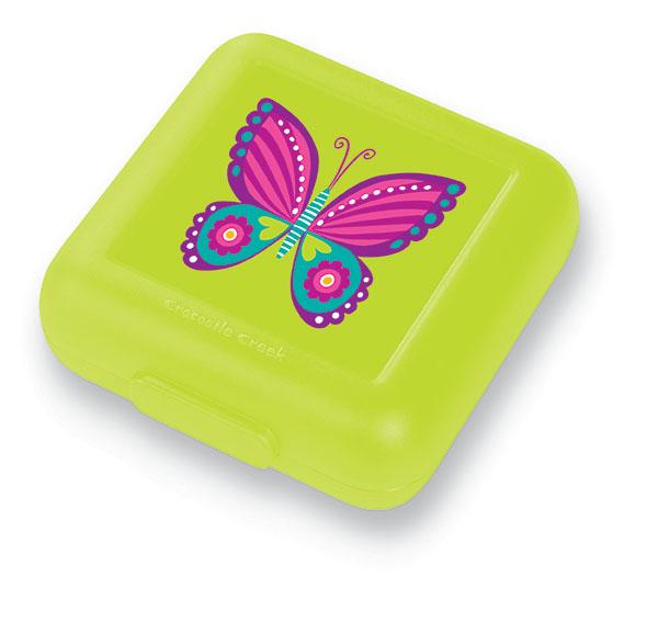 Brotdose Schmetterling hellgrün