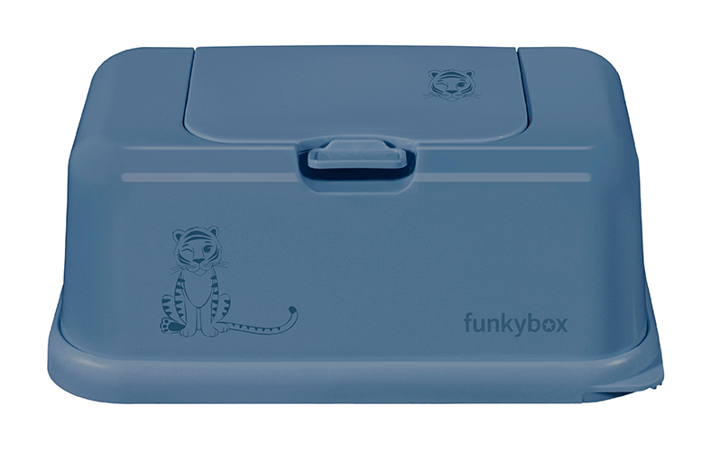 Feuchttücher Aufbewahrungsbox Tiger jeansblau