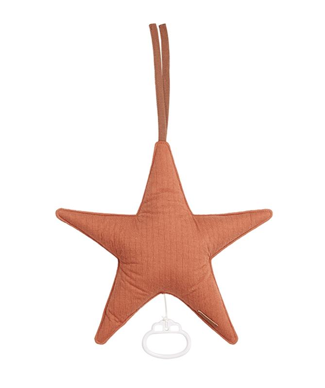Spieluhr Stern Pure rost orangerot
