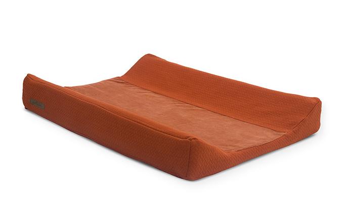 Wickelauflagenbezug Brick Samt rostrot orange 50x70 cm