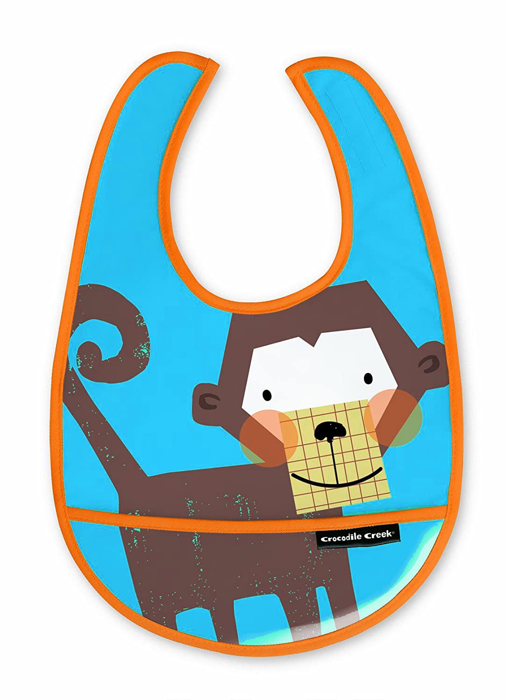 Lätzchen Affe blau 3er Set