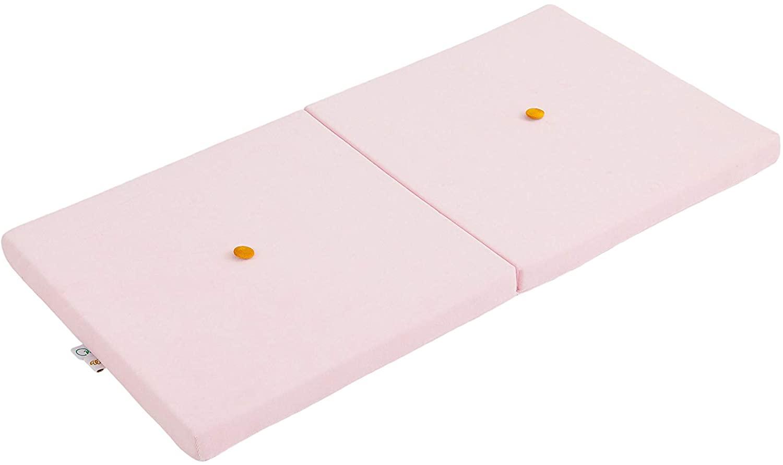 Samt Sitzkissen faltbare Spielmatte rosa