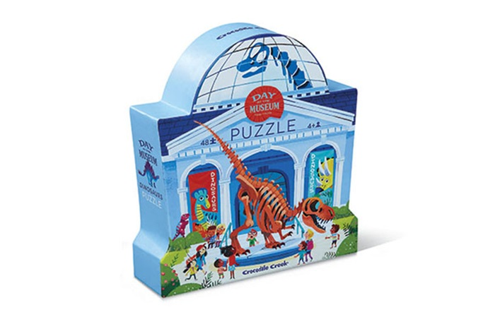 Puzzle Tag im Museum Dinosaurier 48 Teile