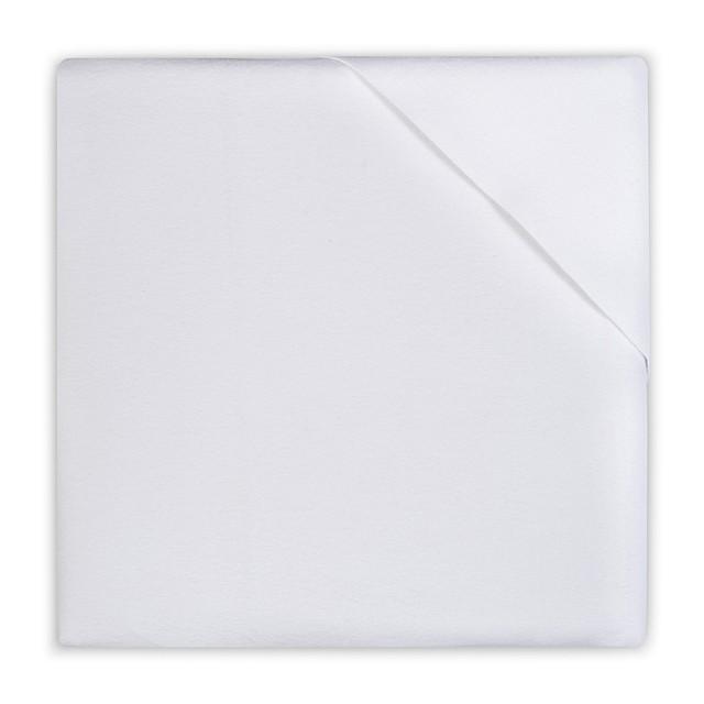 Jollein wasserabweisendes Moltontuch Matratzenschoner weiß 50 x 90 cm