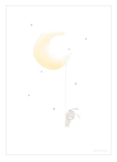 Poster A3 2-seitig Hase Mond