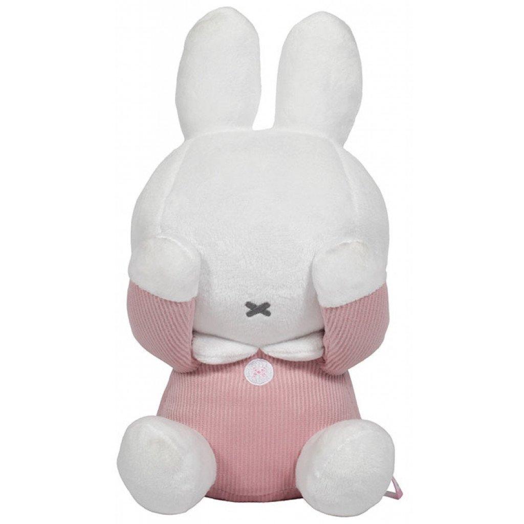 Miffy Hase Cord Stofftier Kuscheltier Guck-Guck rosa 28 cm