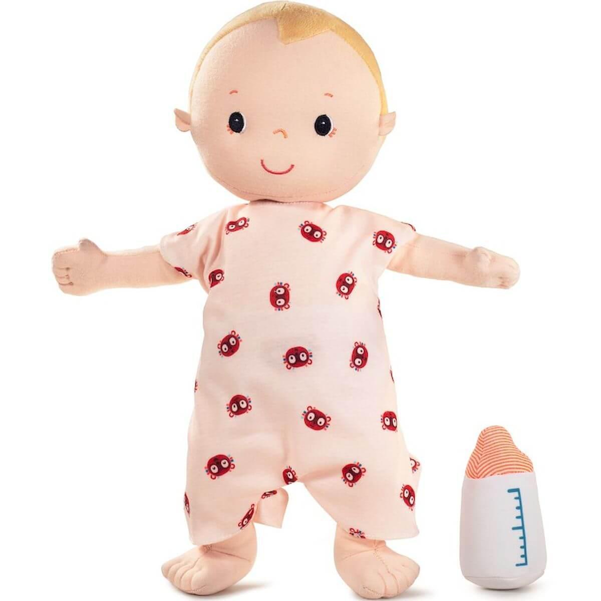 Stoffpuppe Baby Lou mit Zubehör