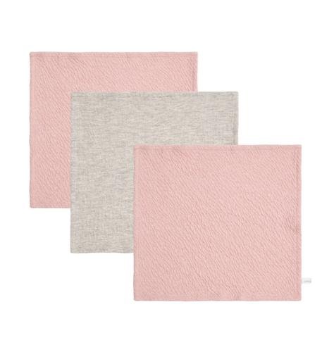 Spucktücher 3er Set Pure rosa grau